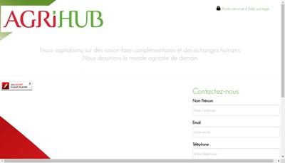 Site internet de Agrihub