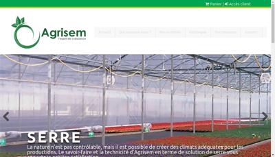 Capture d'écran du site de Agrisem