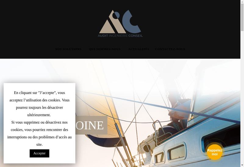 Capture d'écran du site de AIC Patrimoine