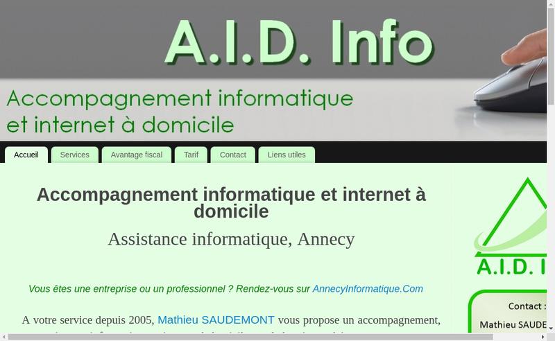 Capture d'écran du site de Mathieu Saudemont