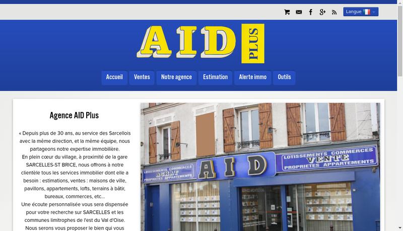 Capture d'écran du site de Aid Plus
