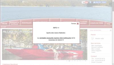 Capture d'écran du site de SARL l'Aigle Pecheur