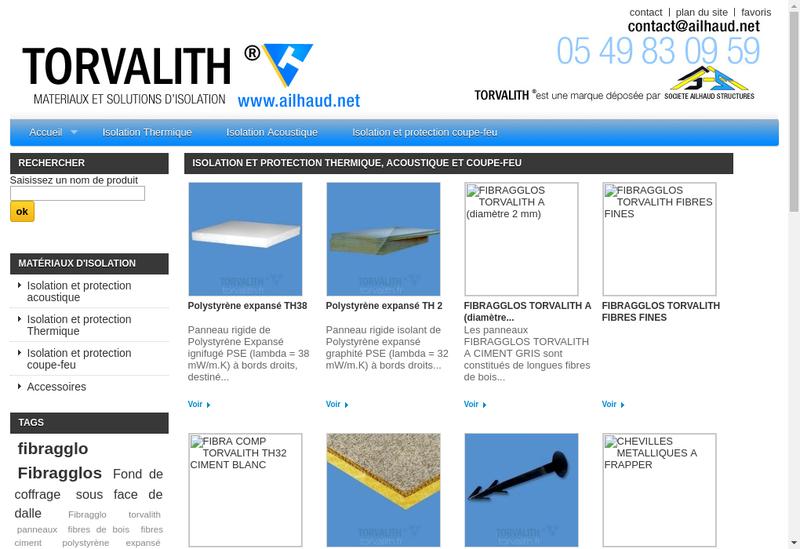 Capture d'écran du site de Ailhaud Structures