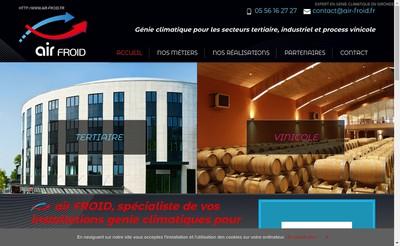 Site internet de Air Froid