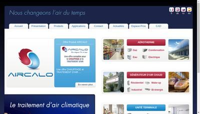 Site internet de Aircalo