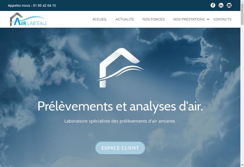 Capture d'écran du site de Icf Labo