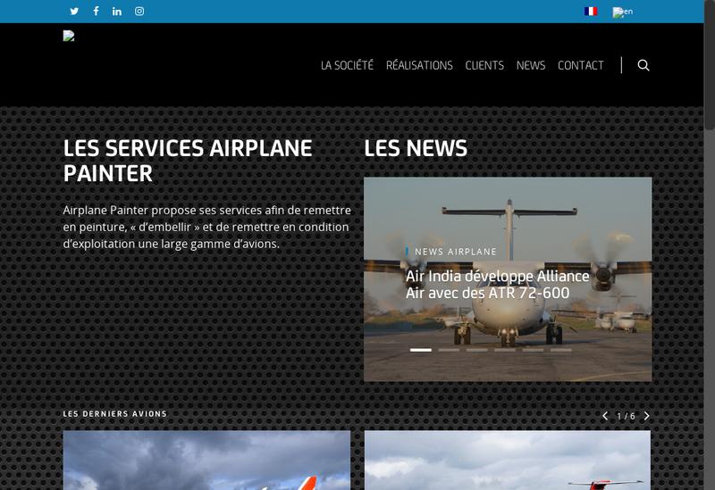 Capture d'écran du site de Airplane Delivery