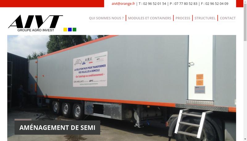 Capture d'écran du site de Aivt