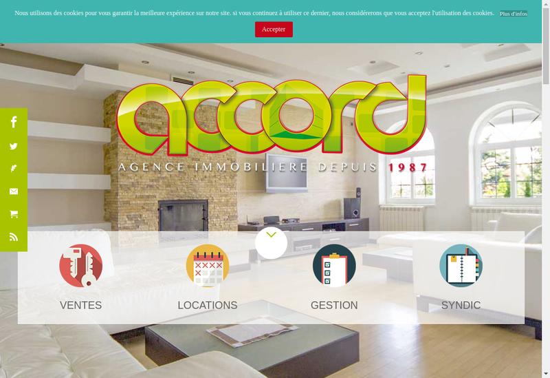 Capture d'écran du site de Accord