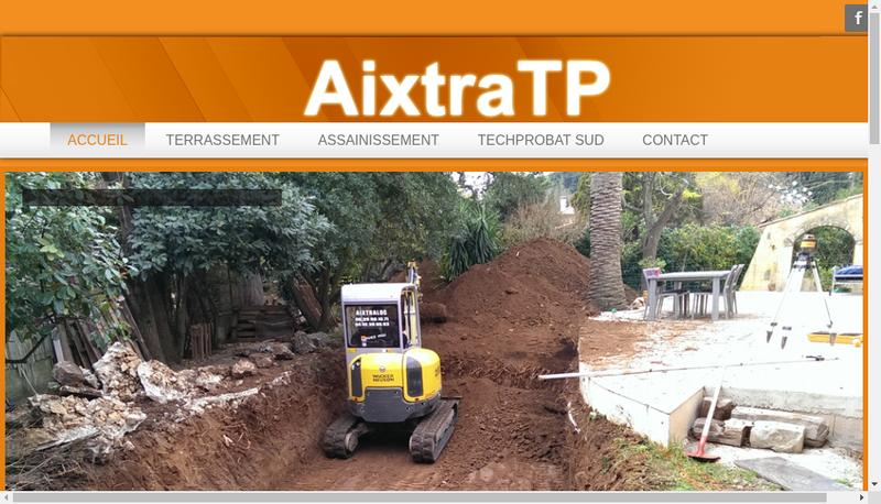Capture d'écran du site de Aixtraloc-Aixtratp-Aixtrassainissement