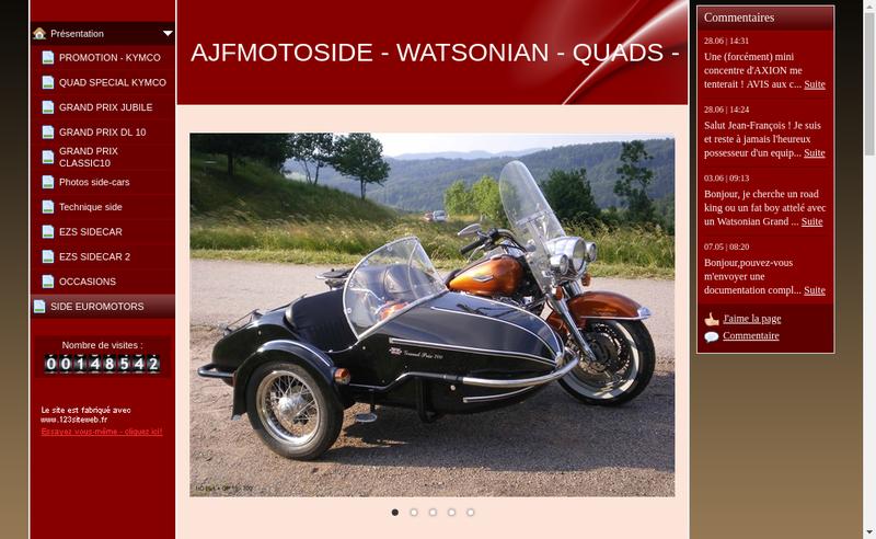 Capture d'écran du site de Ajf Motoside