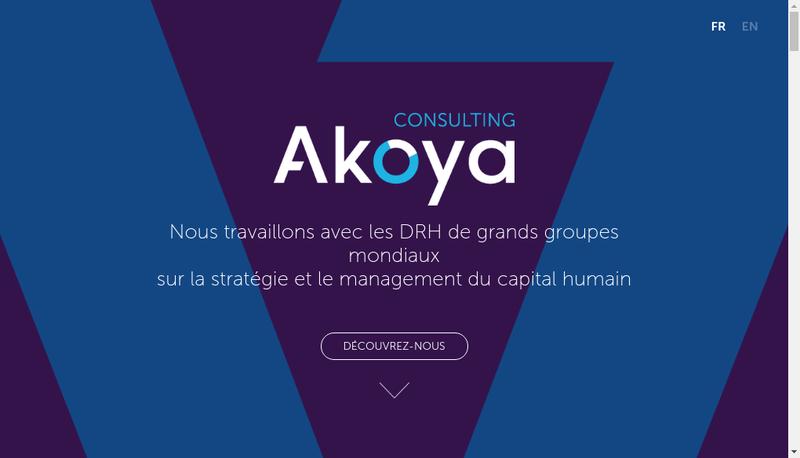 Capture d'écran du site de Akoya Consulting