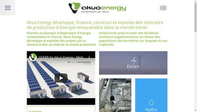 Site internet de Akuo Energy des Alpes