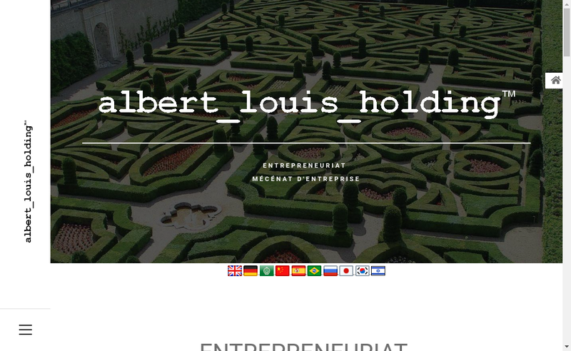 Capture d'écran du site de Albert Louis Holding