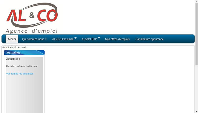 Capture d'écran du site de Al et Co Developpement