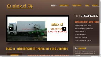 Site internet de Alex-D Demenagement