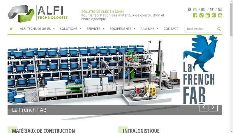 Capture d'écran du site de Alfi-Adler