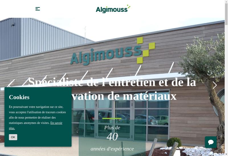 Capture d'écran du site de Algimouss