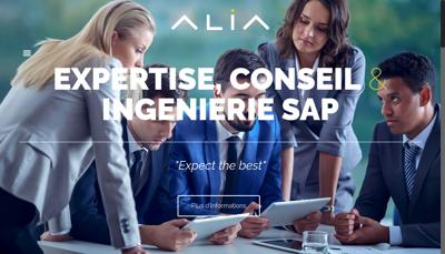 Capture d'écran du site de Alia Consulting