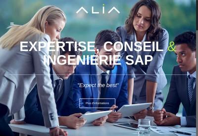 Site internet de Alia Consulting