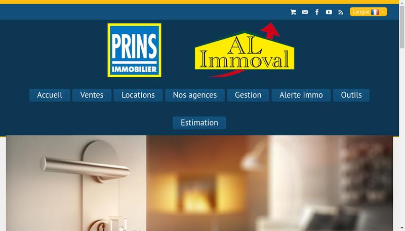 Capture d'écran du site de Al Immoval