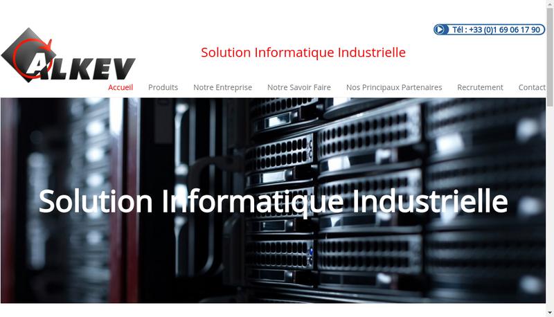 Capture d'écran du site de Alkev
