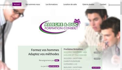 Site internet de Allegre & Duc Formation - Conseil