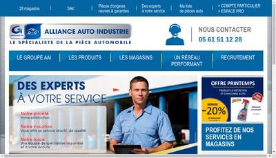 Site internet de Alliance Auto Industrie