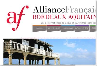 Site internet de Alliance Francaise Bordeaux Aquitaine