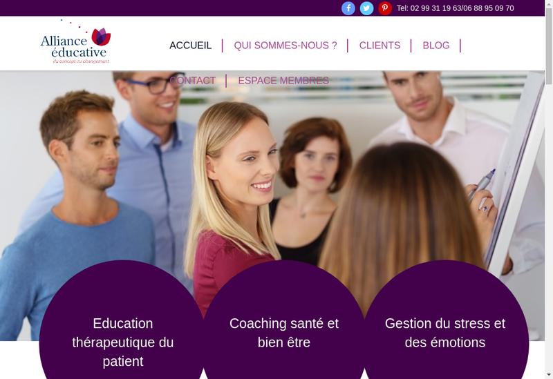 Capture d'écran du site de Alliance Educative