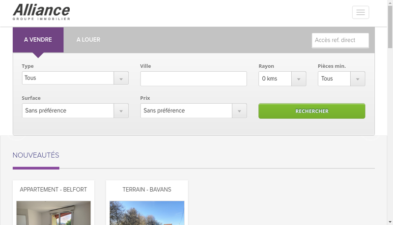 Capture d'écran du site de Creapierre