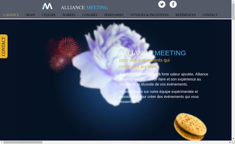 Capture d'écran du site de Alliance Meeting
