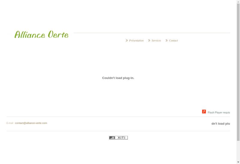 Capture d'écran du site de Alliance Verte