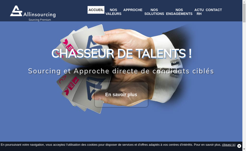 Capture d'écran du site de Allinsourcing