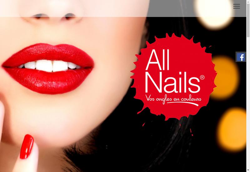 Capture d'écran du site de All Nails