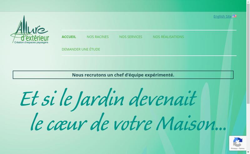 Capture d'écran du site de Allure d'Exterieur