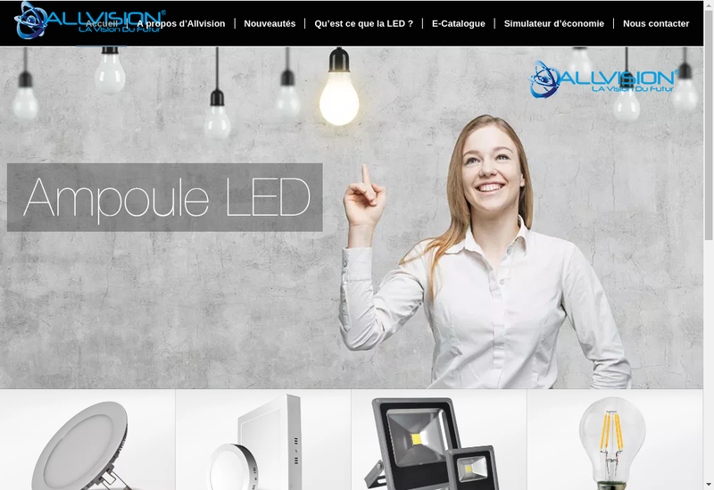 Capture d'écran du site de Allvision