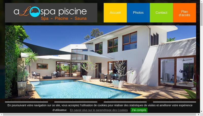 Capture d'écran du site de ALO Spa Piscine