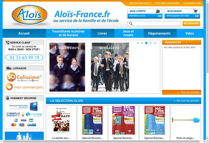 Capture d'écran du site de Alois