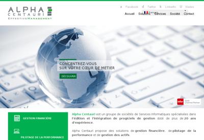 Capture d'écran du site de Alpha Centauri