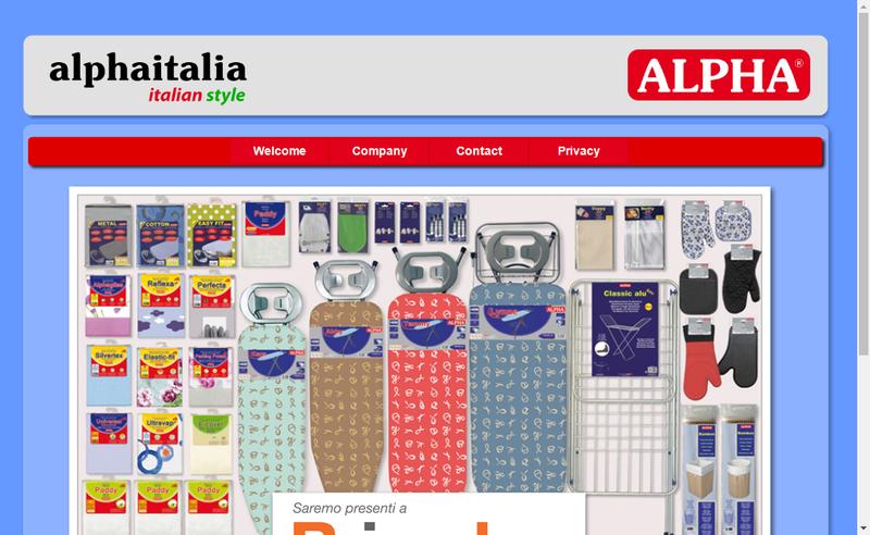 Capture d'écran du site de Alphaitalia Spa