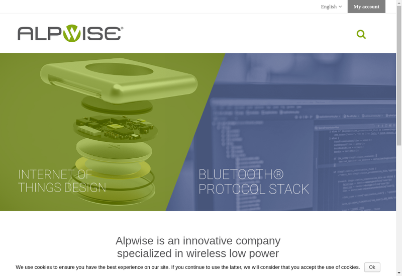 Capture d'écran du site de Alpwise