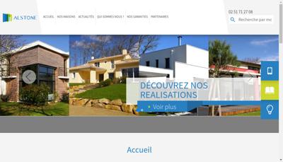 Capture d'écran du site de Alstide