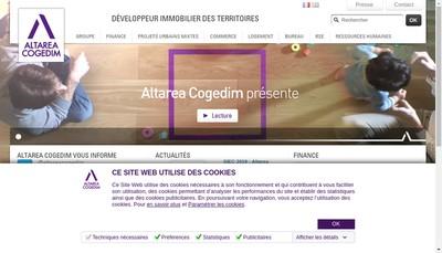 Site internet de Alterea Commerce