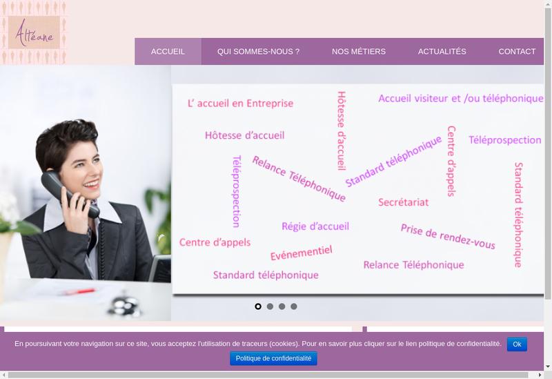 Capture d'écran du site de Alteane