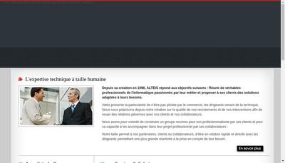 Site internet de Alteis Groupe