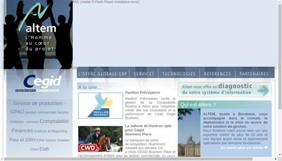 Site internet de Altem