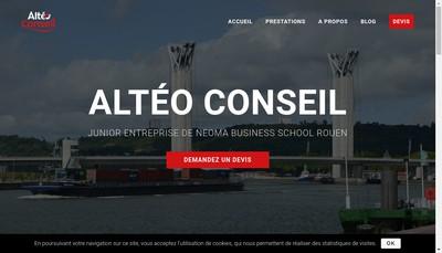 Site internet de Alteo Conseil