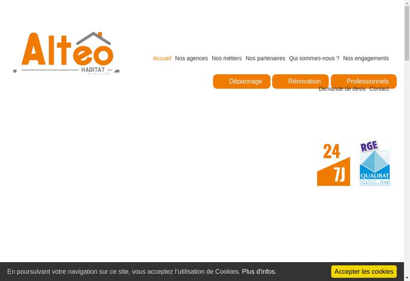 Capture d'écran du site de ACH Depann'Express-As2D