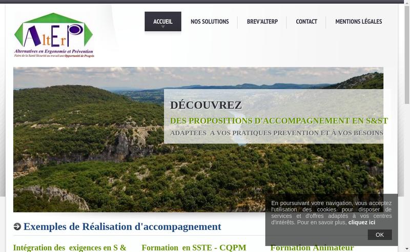 Capture d'écran du site de Alterp